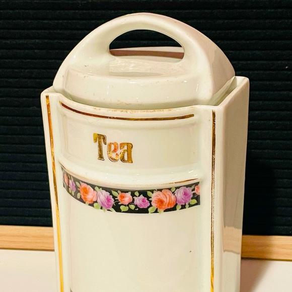 Vintage German Ceramic Tea Canister